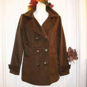 Warm Plush Coat Jacket 6 Button Front NWT!